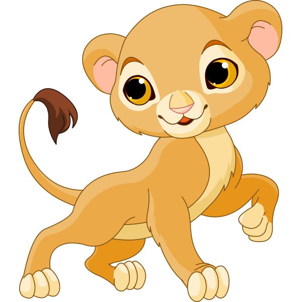 Prancing Lion Cub