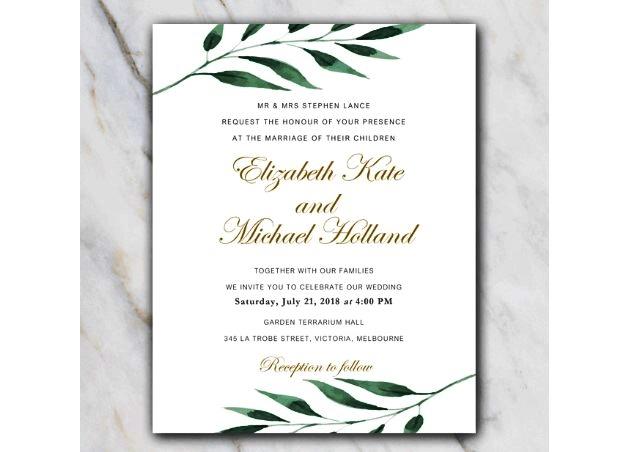 template undangan perkawinan minimalis word