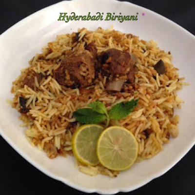 Hyderabadi Dum Biriyani or Nawabi Biriyani