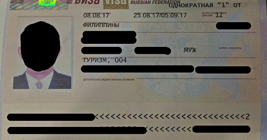 How to Apply for Russia Tourist Visa as Philippine Passport Holder