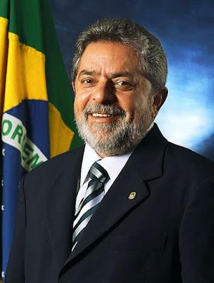 A foto mostra a foto do Presidente Luís Inácio Lula da Silva.