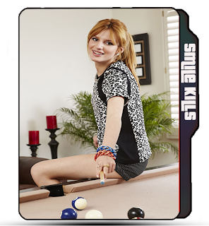 Preview of Bella Thorne, celebrity, actress, pool, table, photoshoot, pose