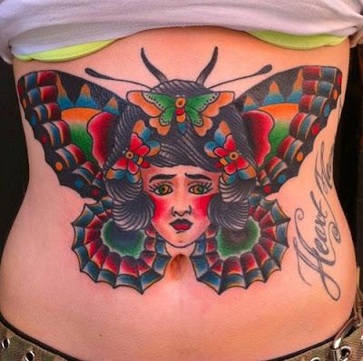 Tummy tuck tattoo