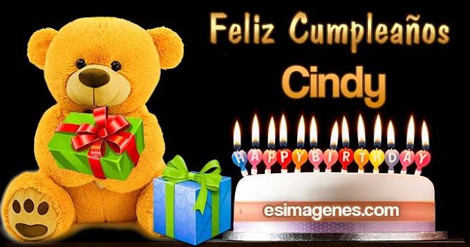 Feliz Cumpleaños Cindy