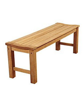 Amazonia Rinjani 51 inches Teak Backless Patio Bench