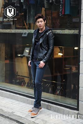 blazer cowok blazercowok.com jaket korean jas pria sk44 black d