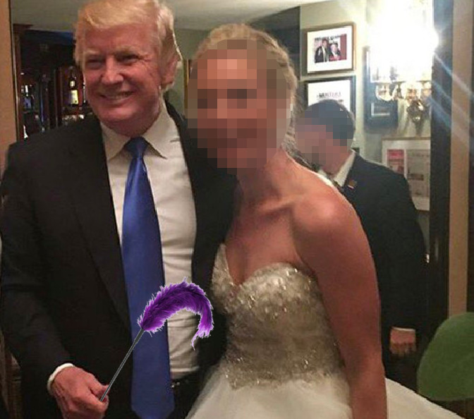 Trump Crashes Wedding.Trump Crashes New Jersey Wedding Reception To Grope Young Bride