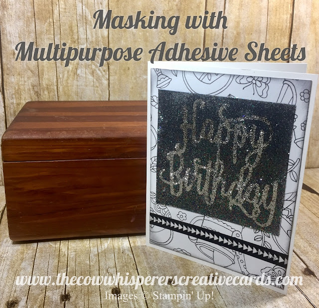 Glitter, Technique, Pick a Pattern, Masking, Happy Birthday, Card, Stampin UP