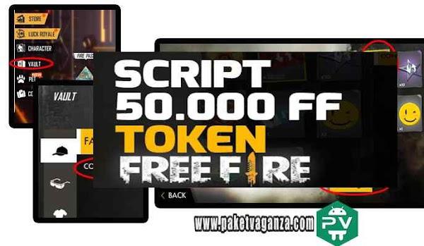 Script 50000 FF Token Garena Free Fire 100% Diamond Permanen