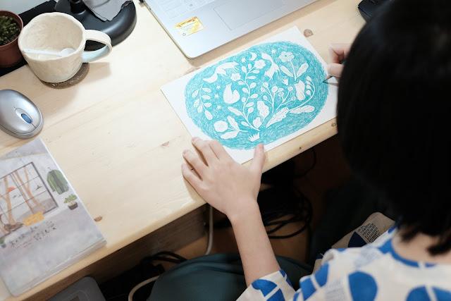 兒童島插畫家繪製與許許兒合作的印花