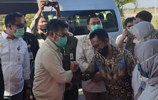 Walikota Bima Ikut Serta Penyambutan Kunjungan Kerja Mentan di Provinsi NTB