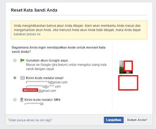 cara mengatasi lupa kata sandi Facebook dengan nomor HP