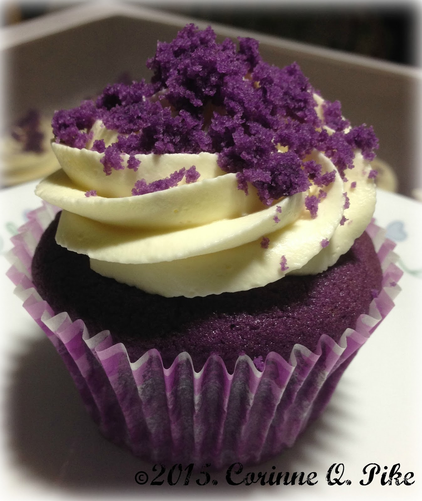 Heart Of Mary: Ube Cupcakes