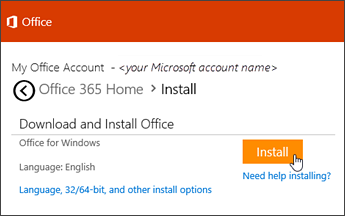 download and install office