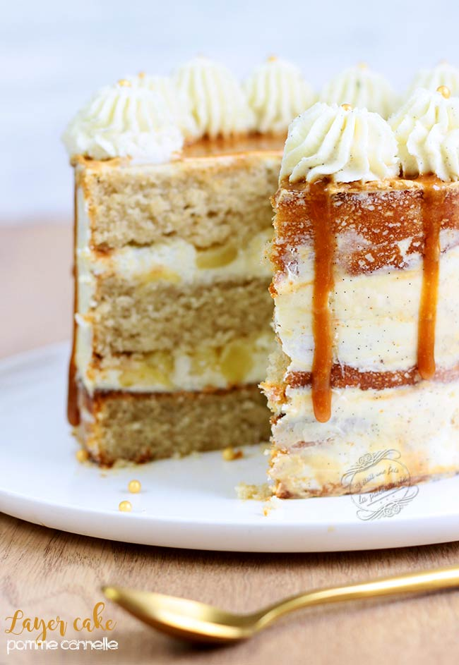 layer cake pomme cannelle