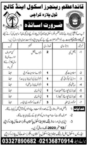Quaid-e-Azam-Rangers-School-Colleges-Jobs-Sep-2020