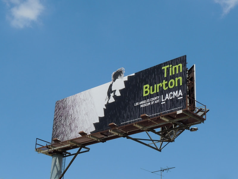 Tim Burton LACMA 2011 billboard