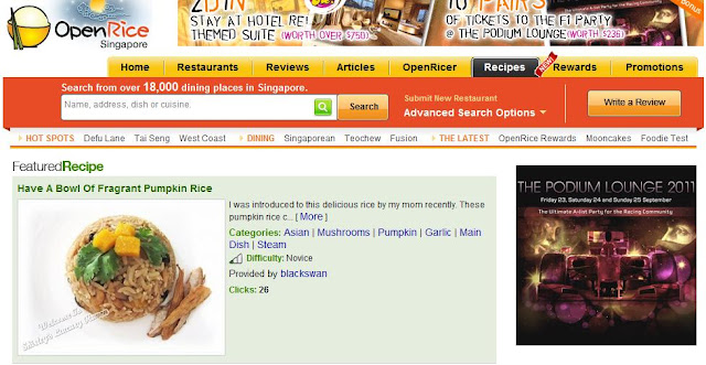 openrice pumpkin rice halloween recipe