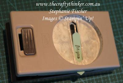 #thecraftythinker #stampinup #cardmaking , shortening the Classic Label Punch, Stampin' Up Australia Demonstrator, Stephanie Fischer, Sydney NSW