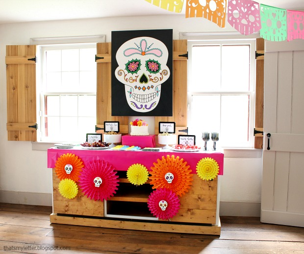 Sugar skull or Day of the Dead Halloween Party