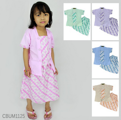 Baju Batik anak perempuan untuk lebaran hari raya