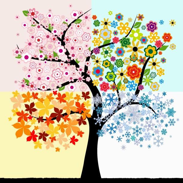 1423ef8689 Das Leben ist Bunt: Die vier Jahreszeiten eines Baumes