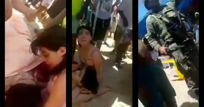 VIDEO: Turistas socorren a heridos tras balacera en Caleta mientras autoridades solo observan