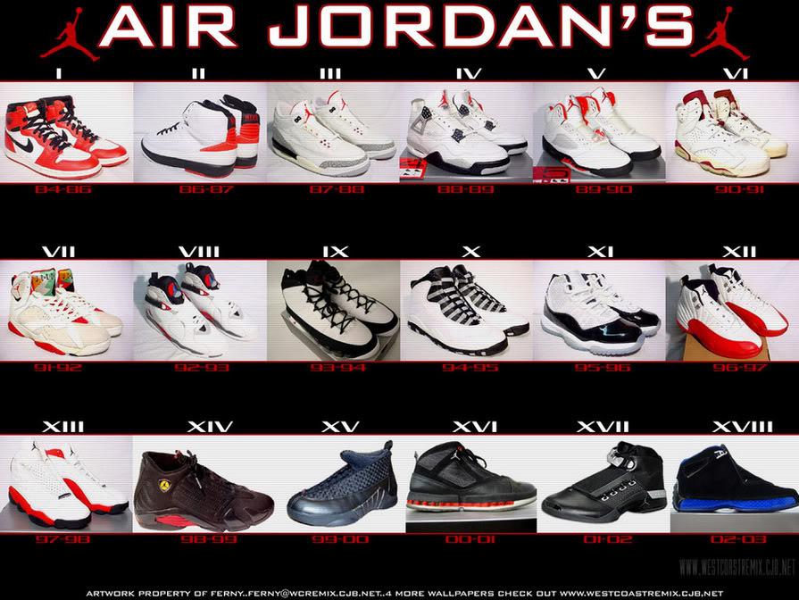 info for 67647 e971f ... air jordans 1 through 25 All ...