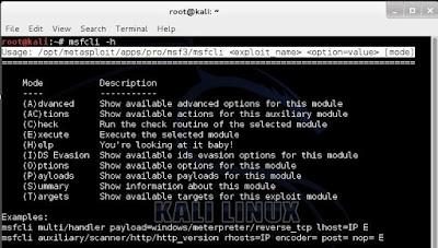 modul metasploit kali linux untuk inspirasi para hacker