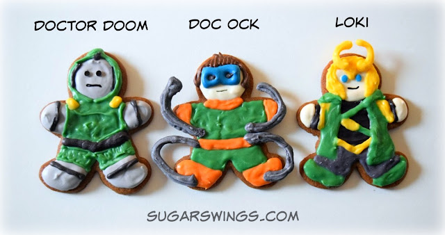 Doctor Doom Doc Ock Loki cookies