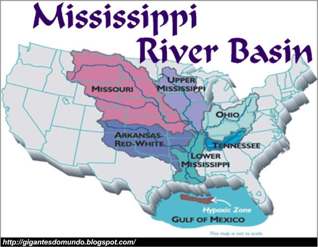 mapa Rio Missisipe