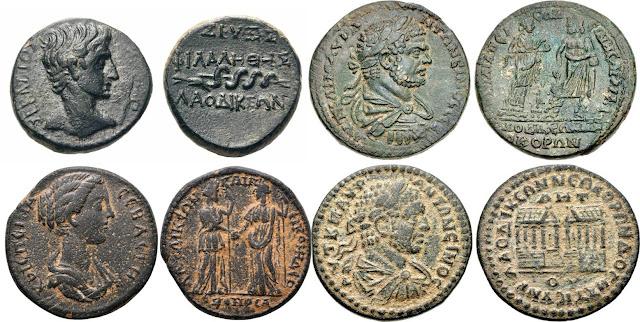 acuñadas en Laodicea ad Lycum