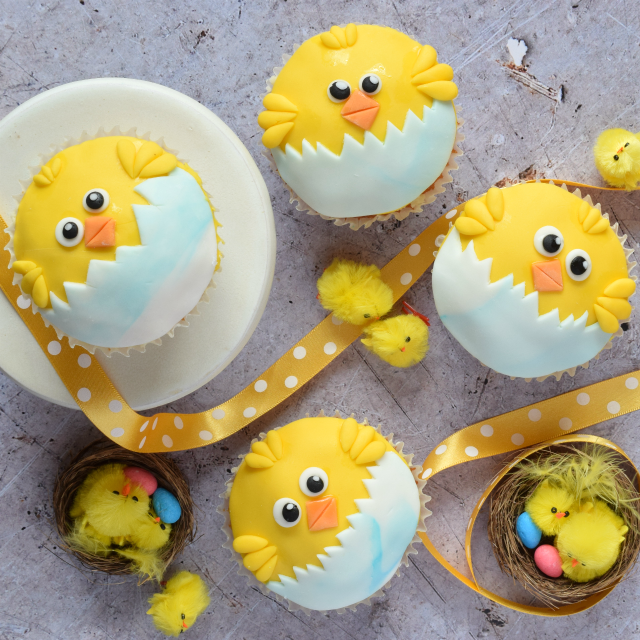 how to make easter chick cupcakes - Easter Chick