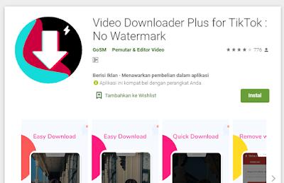 Cara Simpan Video TikTok Tanpa Watermark
