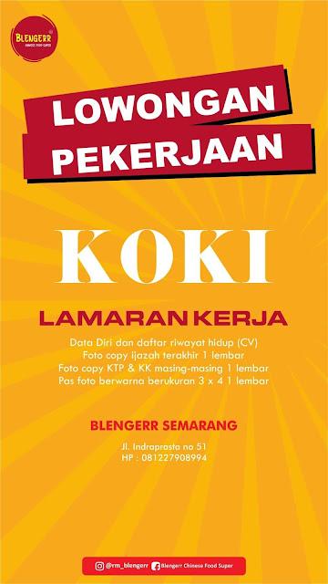 Lowongan Kerja Crew Rumah Makan Blengerr Yogyakarta