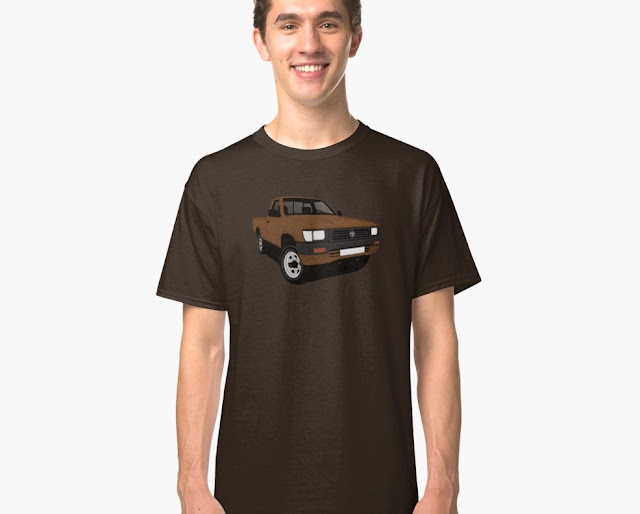 toyota hilux pickup brown basic t-shirts