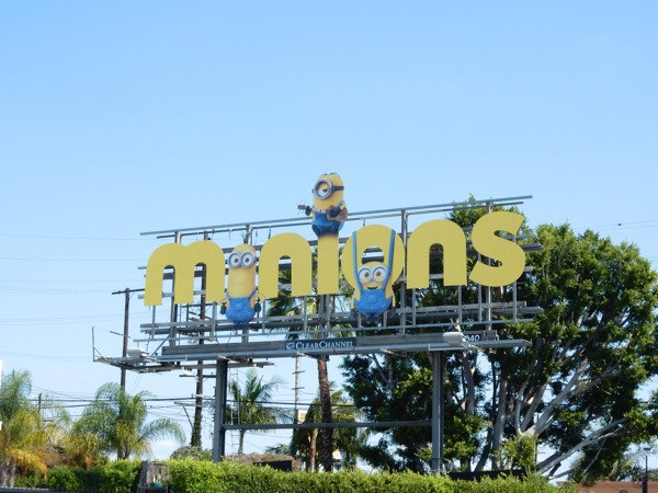 Special Minions movie billboard