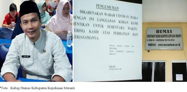 Dampak Virus Corona Melanda Indonesia! Semua Kantor  di Pemda Meranti Hentikan Langganan Surat Kabar