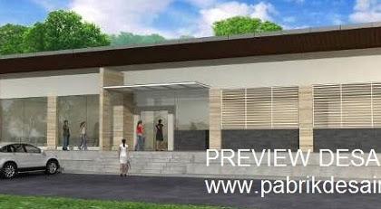 Jasa Gambar 3d Ruko Panjang Minimalis Modern