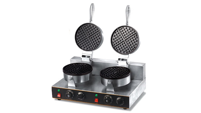 LAF 1000W Commercial Waffle Maker