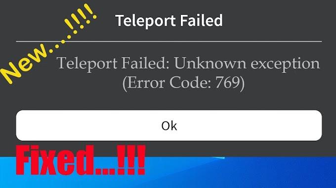 Roblox: Como corrigir os códigos de erro 769 e 772