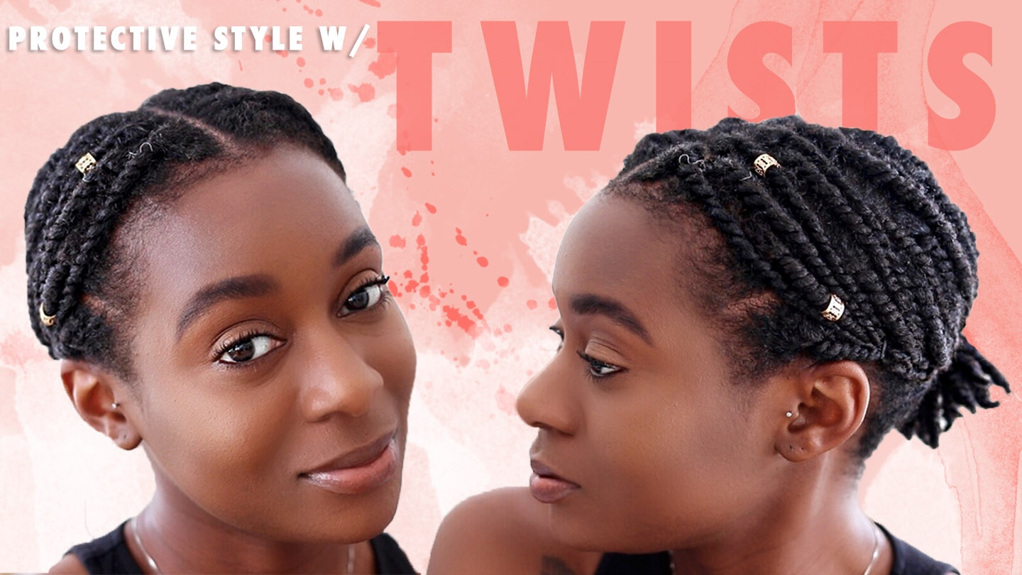 Quick Easy Protective Style For Short Natural Hair 2 Strand