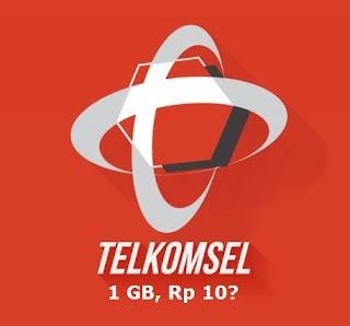 Cara Mendapatkan Paket Telkomsel 1GB Cuma 10 Rupiah Terbaru
