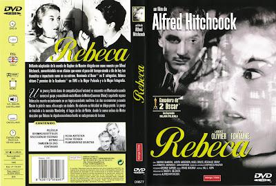 Carátula dvd: Rebeca (1940) Rebecca