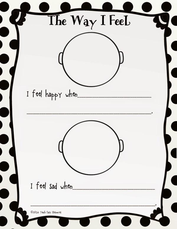 Classroom Freebies Too: Feelings Worksheet and Mini-Book