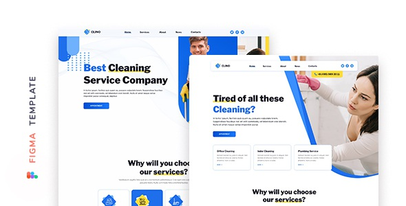 Best Cleaning Services Figma Template