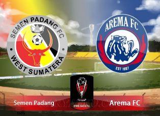 Arema FC Kalah 0-1 di Kandang Semen Padang FC - Semifinal Piala Presiden 2017