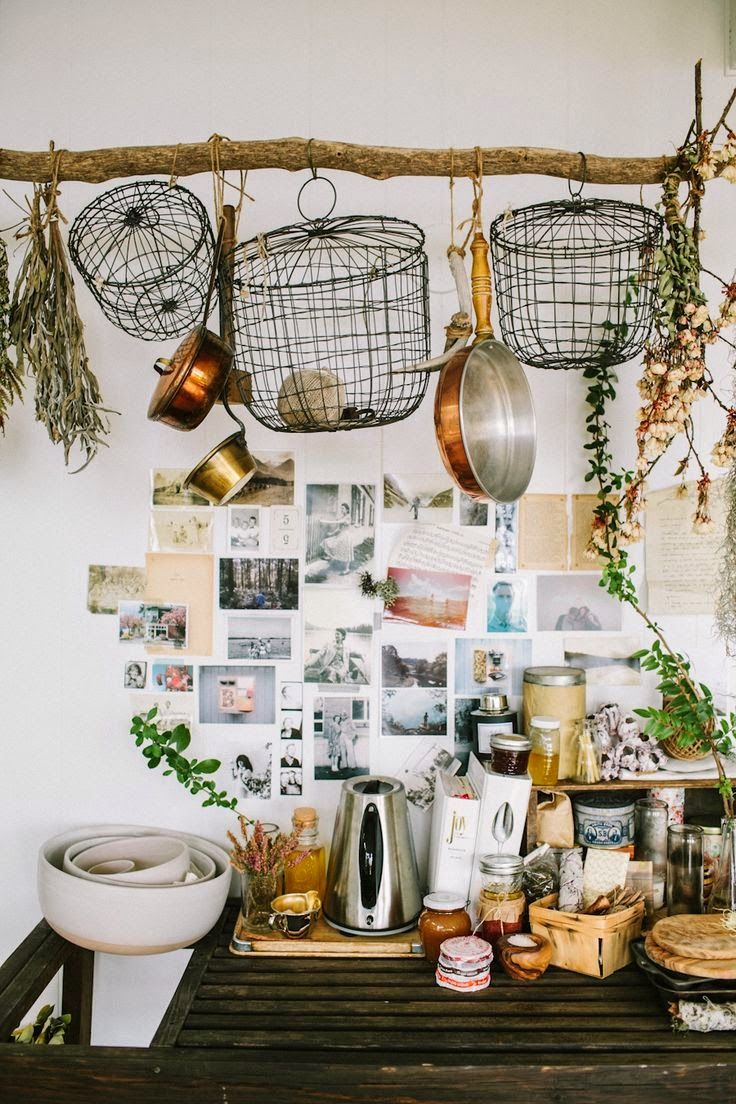 Eclectic Kitchens: Moon To Moon: Earthy Bohemian Kitchens