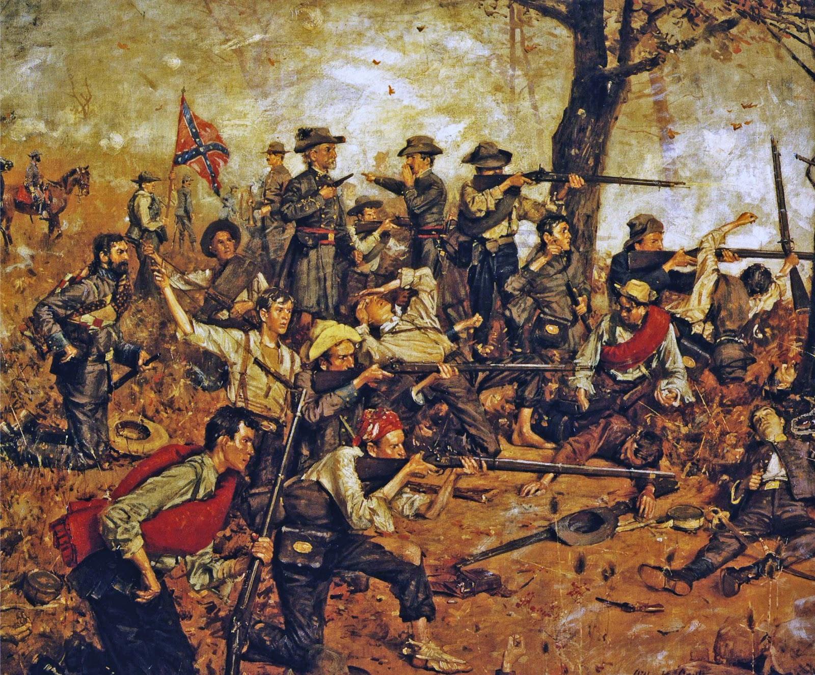 Men of War: American Civil War Mod - Farm Defense - YouTube |American Civil War Battle Paintings