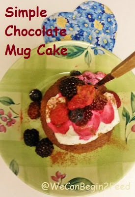 Simple Chocolate Mug Cake